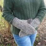 Men's Tunisian Mittens Siz..