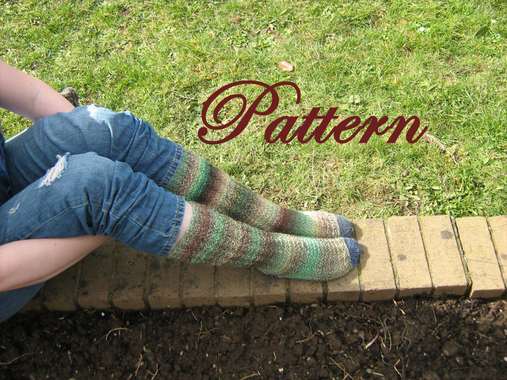 Womans fitted, Thermal calf sock PATTERN
